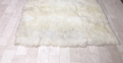 sheepskin after area rug cleaning